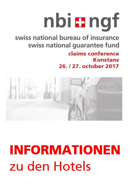 Informationen zu den Hotels der Claims Conference 2017