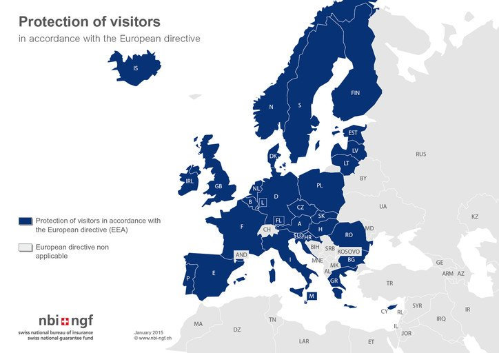 Protection of visitors in accordance with the European Directive