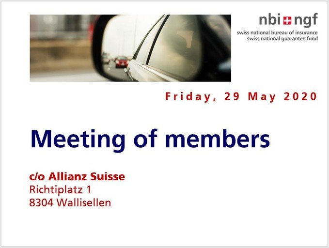 Cover of the meeting of members 2020